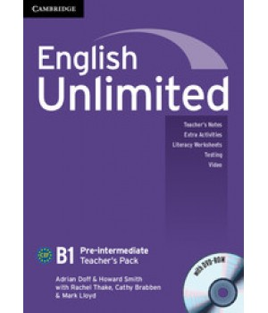 Книга для вчителя English Unlimited Pre-intermediate Teacher's Pack ( with DVD-ROM)