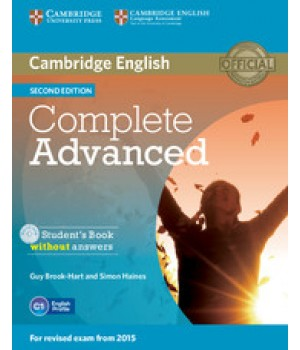 Учебник Complete Advanced Second edition Student's Book without answers with CD-ROM