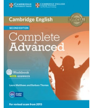 Рабочая тетрадь Complete Advanced Second edition Workbook with Answers with Audio CD