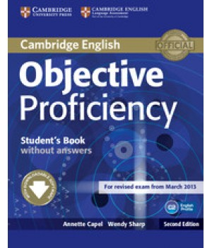 Учебник Objective Proficiency Second edition Student's Book without answers with Downloadable Software