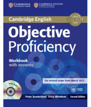 Рабочая тетрадь Objective Proficiency Second edition Workbook with answers with Audio CD