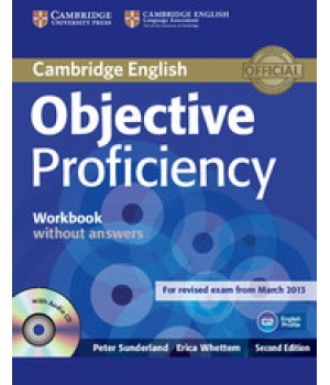 Рабочая тетрадь Objective Proficiency Second edition Workbook without answers with Audio CD