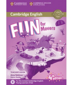 Книга для вчителя Fun for Movers 4th Edition Teacher's Book with Downloadable Audio