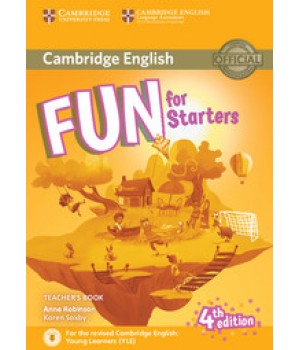 Книга для вчителя Fun for Starters 4th Edition Teacher's Book with Downloadable Audio