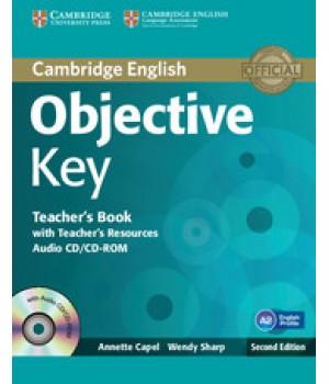 Книга для учителя Objective Key Second Edition Teacher's Book with Teacher's Resources Audio CD/CD-ROM