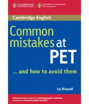 Підручник Common Mistakes at PET and how to avoid them Paperback