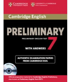 Тести Cambridge Practice Tests PET 7 Book with Answers and Audio CDs (2)