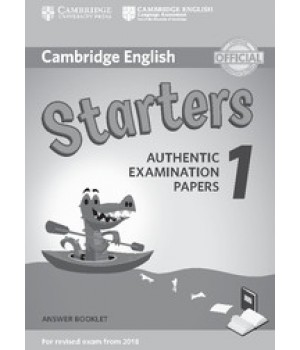 Відповіді Cambridge English Starters 1 for Revised Exam from 2018 Answer Booklet