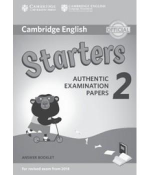 Відповіді Cambridge English Starters 2 for Revised Exam from 2018 Answer Booklet