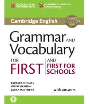 Підручник Grammar and Vocabulary for First and First for Schools Book with Answers and Audio