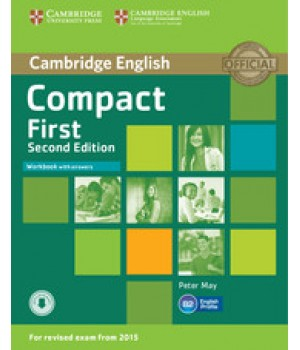 Рабочая тетрадь Compact First 2nd Edition Workbook with answers with audio