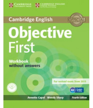 Робочий зошит Objective First Fourth edition Workbook without answers with Audio CD