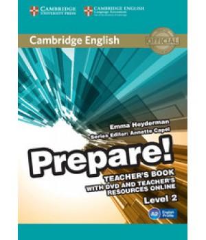 Книга для учителя Cambridge English Prepare! Level 2 (A1-A2) Teacher's Book with DVD and Teacher's Resources Online