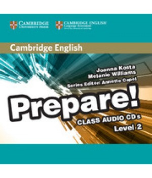 Диски Cambridge English Prepare! Level 2 (A1-A2) Class Audio CDs (2)