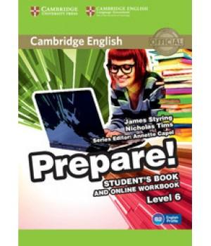 Підручник Cambridge English Prepare! Level 6 (B1-B2) Student's Book and online Workbook