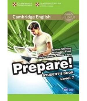 Підручник Cambridge English Prepare! Level 7 (B2) Student's Book