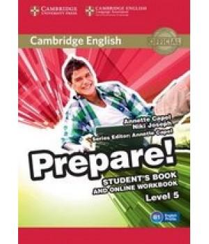 Підручник Cambridge English Prepare! Level 5 (B1) Student's Book and online Workbook