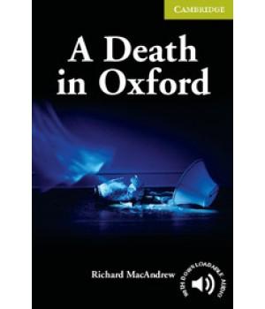 Книга для читання Cambridge English Reader Level Starter A Death in Oxford + Downloadable Audio