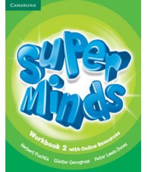 Рабочая тетрадь Super Minds 2 Workbook with Online Resources
