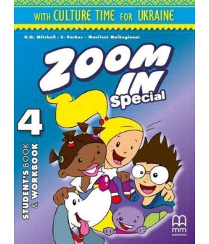 Підручник Zoom in 4 with Culture Time for Ukraine Student's Book + Workbook + CD-ROM