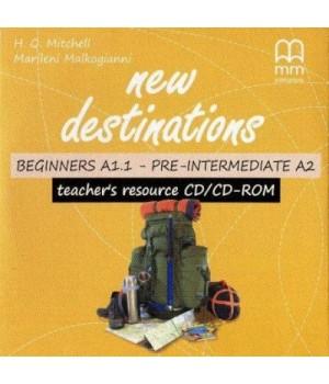 Диск New Destinations Beginner-Pre-Intermediate Teacher's Resource CD/CD-ROM