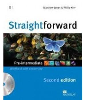 Робочий зошит Straightforward Second Edition Pre-Intermediate Workbook with Audio CD