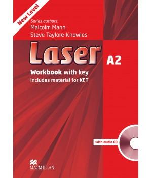 Робочий зошит Laser A2 (3rd Edition) Workbook with Key & CD Pack