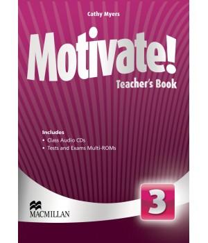 Книга для вчителя Motivate! 3 (Elementary) Teacher's Book + Class Audio CDs