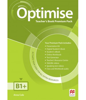 Книга для учителя Optimise B1+ Teacher's Book Premium Pack