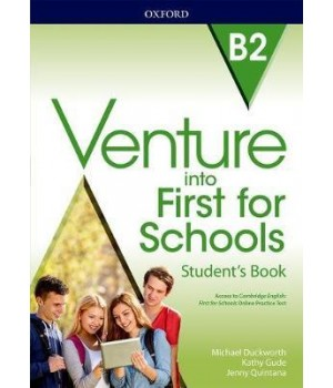 Підручник Venture into First for Schools Student's Book with Online Practice Test