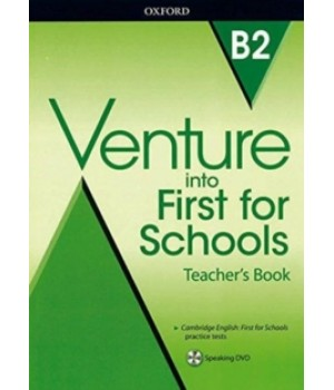 Книга для вчителя Venture into First for Schools Teacher's Book with DVD