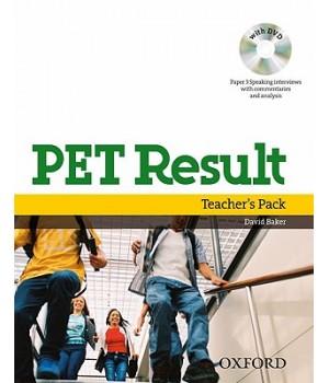 Книга для учителя PET Result Teacher's Book with DVD