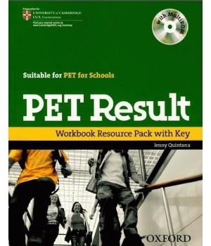Рабочая тетрадь PET Result Workbook with Key with MultiROM