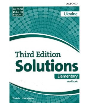 Рабочая тетрадь Solutions Third Edition Elementary Workbook with Audio