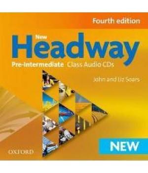 Диски New Headway (4th Edition) Pre-Intermediate Class Audio CDs (3)