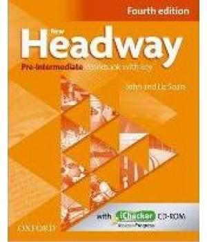 New Headway (4th Edition) Pre-Intermediate Workbook with Key & iChecker CD-ROM