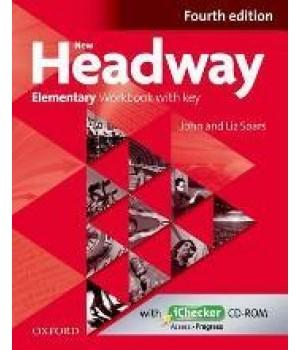 Робочий зошит New Headway (4th Edition) Elementary Workbook with Key & iChecker CD-ROM