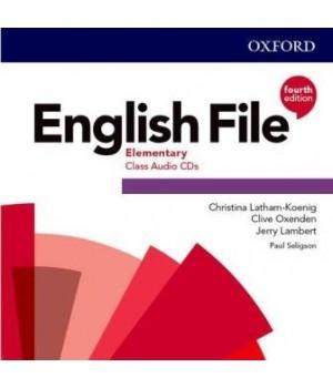 Диски English File 4th Edition Elementary Class Audio CDs (5)