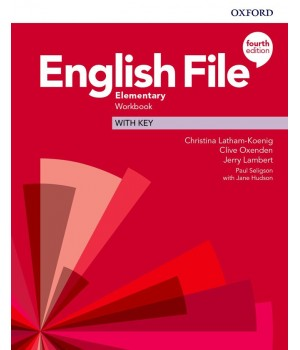 Робочий зошит English File 4th Edition Elementary Workbook with key