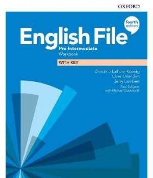 Робочий зошит English File 4th Edition Pre-Intermediate Workbook with key