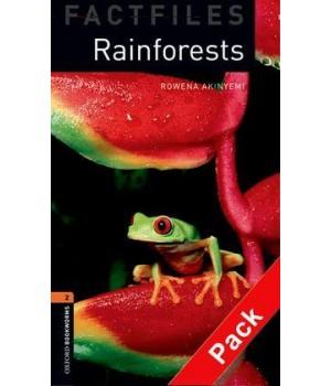 Книга для чтения Oxford Bookworms Library Level 2 Rainforests Factfile Audio CD Pack