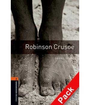 Книга для чтения Oxford Bookworms Library Level 2 Robinson Crusoe Audio CD Pack