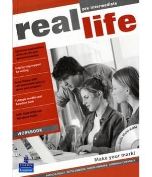 Робочий зошит Real Life Pre-Intermediate Workbook + Multi-ROM