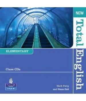 Диски New Total English Elementary Class Audio CD