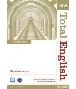 Рабочая тетрадь New Total English Intermediate Workbook with Key and Audio CD Pack