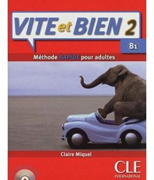 Підручник Vite et Bien 2 livre + CD audio + corrigés