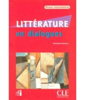 Учебник Littérature en dialogues niveau intermédiaire Livre + CD