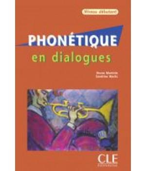 Учебник Phonétique en Dialogues niveau débutant Livre + CD