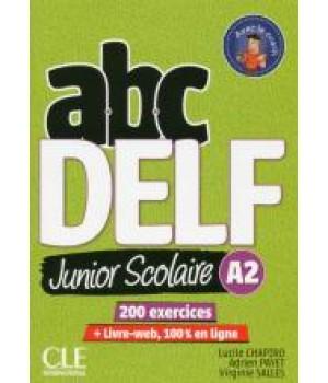 Тести ABC DELF Junior scolaire 2ème édition A2 Livre + DVD + Livre-web