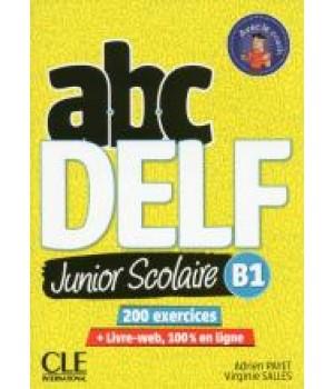 Тести ABC DELF Junior scolaire 2ème édition B1 Livre + DVD + Livre-web
